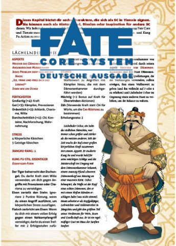 Download Tianxia: Jade, Seide & Blut – Beispielcharaktere Fate Core