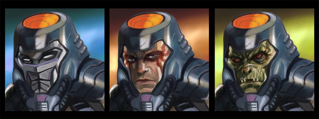 Man-E-Faces by Nathan Roasario – http://nathanrosario.deviantart.com/art/MotU-Concept-Faces-361123018