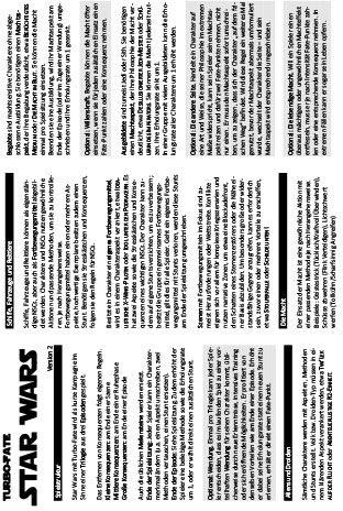 Download Star Wars mit Turbo-Fate, komplett auf einer A4-Seite