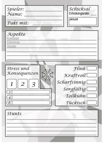 Download Charakterblatt Faust Turbo-Fate A5