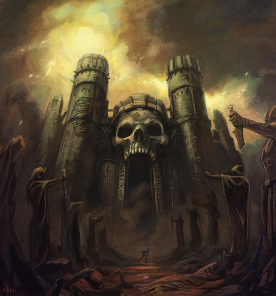 Castle Grayskull by Nathan Rosario – http://nathanrosario.deviantart.com/art/Grayskull-202050395