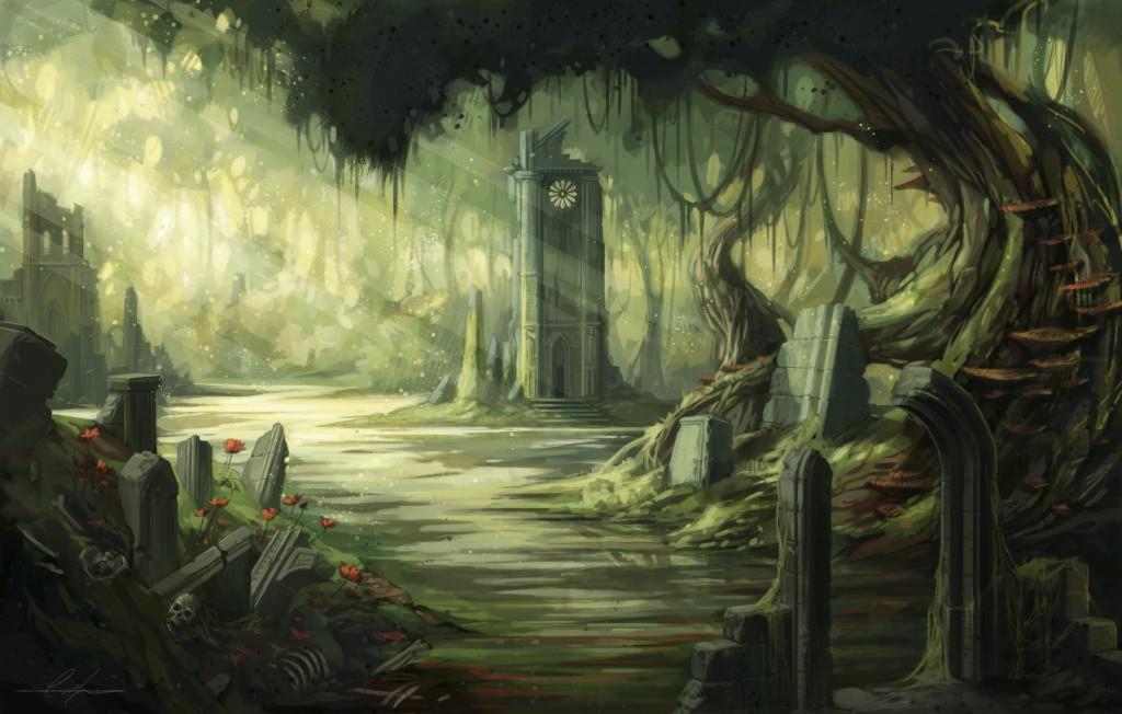 Swamp Ruins by Caroline Laplante – http://snaketoast.deviantart.com/